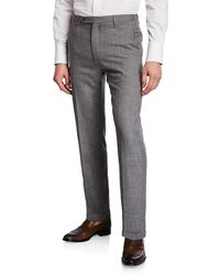 Zanella - Men's Slub Weave Dress Trousers - Lyst