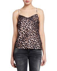 PAIGE Cicely Leopard-print Cami - Black