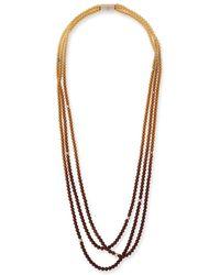 Lafayette 148 New York Ombre Beaded Necklace - Metallic