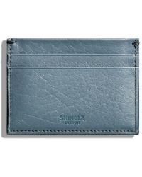 Shinola Five-pocket Leather Card Case - Blue