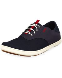Olukai Men's Nohea Moku Boat Shoe - Blue
