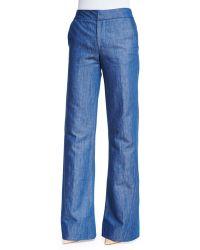Co. High-waist Wide-leg Jeans - Blue