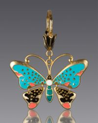 Jay Strongwater - Butterfly Key Chain - Lyst