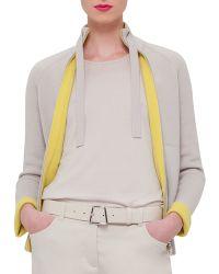 Akris Long-sleeve Cashmere Reversible Cardigan - Gray