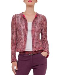 Akris Open-front Loose-weave Jacket - Red