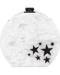 Edie Parker Oscar Star Cluster Clutch Bag - White