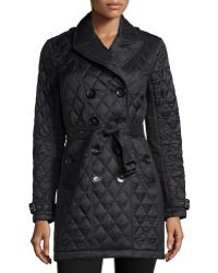 Burberry Brit - Goldsmeade Lightweight Quilted Trench Coat - Lyst