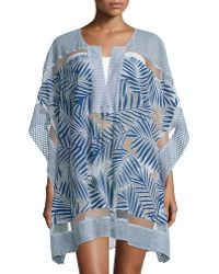 Parker - Palm 3/4-sleeve Coverup Tunic - Lyst