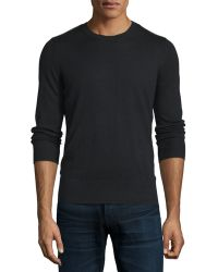 Burberry Brit | Cashmere-cotton Sweater With Check Panels | Lyst