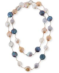 Margo Morrison - Multicolor Coin Pearl Necklace - Lyst