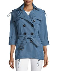 Burberry Brit - Knightsdale Hooded Trenchcoat - Lyst