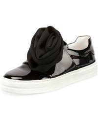 Roger Vivier - Rosette Patent Slip-on Sneaker - Lyst