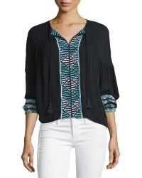 Townsen - Bogo Long-sleeve Embroidered Top - Lyst