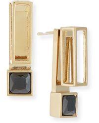 Jason Wu Square Crystal Jacket Earrings - Metallic