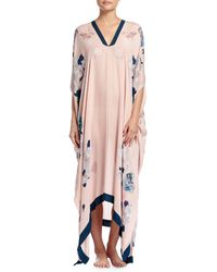 Meng - Butterfly Lovers Printed V-neck Caftan - Lyst