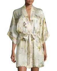 Christine - Magnolia Printed Short Wrap Robe - Lyst
