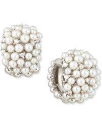 Paul Morelli - Lagrange 18k Pearl & Diamond Huggie Earrings - Lyst