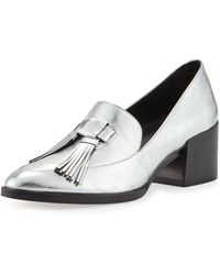 Rebecca Minkoff Edie Tassel Block-heel Loafers - Metallic