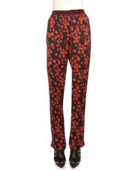 Givenchy Floral-print Pajama Pants - Red
