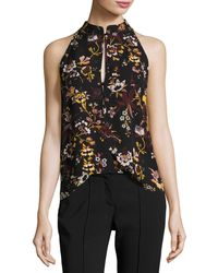 A.L.C. | Keith Sleeveless Floral-print Silk Top | Lyst