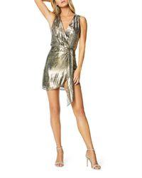 Ramy Brook - Gabriella Printed Metallic Cocktail Dress - Lyst