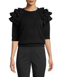 Michael Kors - Starlet Ruffled Cashmere Sweater - Lyst