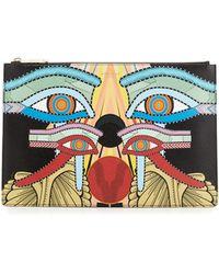 Givenchy Medium Egyptian Four Eyes Pouch Bag - Multicolour
