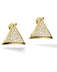 Marina B   Triangoli Pavé Diamond Stud Earrings   Lyst