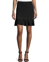 Karina Grimaldi   Debir Lace-detail Skirt   Lyst