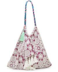 6 Shore Road By Pooja - Sunset Crochet-trim Tassel Beach Bag - Lyst