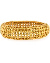 Jose & Maria Barrera - Woven Hinge Cuff Bracelet - Lyst