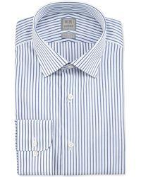 Ike Behar - Textured Stripe Dress Shirt - Lyst