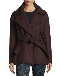 Yigal Azrouël - Long-sleeve Belted Coat - Lyst