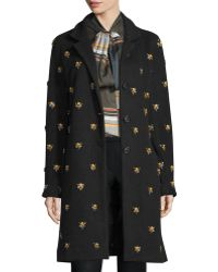 SUNO - Jeweled Button-front Duster Coat - Lyst