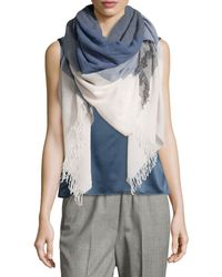 Peserico - Colorblocked Wool Scarf - Lyst
