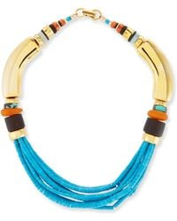 Lizzie Fortunato Blue Period Beaded Turquoise Necklace