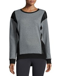 Michi - Blade Embossed-panel Sport Sweatshirt - Lyst