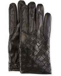 Imoni - Leather Basketweave Gloves - Lyst