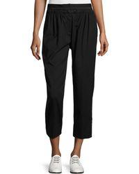 Maiyet Elastic-waist Cropped Pants - Black