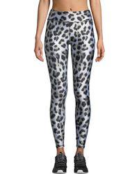 Terez Leopard-print Tall Band Performance Leggings - Black