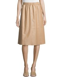 Bagatelle - Full Midi Leather Skirt - Lyst