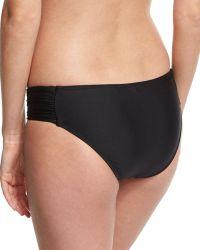 Luxe by Lisa Vogel - Premier Shirred-side Swim Bottom - Lyst