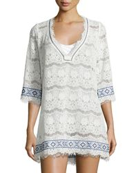 Queen & Pawn - Kea Embroidered Lace Coverup - Lyst