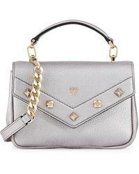 MCM - Catherine Mini Leather Crossbody Bag - Lyst