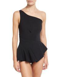 La Petite Robe Di Chiara Boni - Astrea One-shoulder Swimdress - Lyst