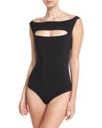 La Petite Robe Di Chiara Boni - Europa Off-the-shoulder One-piece Swimsuit - Lyst