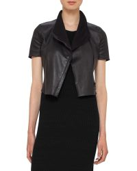 Women&39s Cropped Leather Jackets - Shop Now   Lyst™