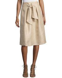 Natori - Tie-front A-line Skirt - Lyst