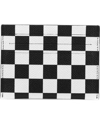 Givenchy - Checkered Leather Card Case - Lyst