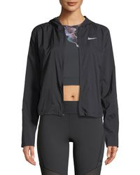 Nike Shield Convertible Running Jacket - Black